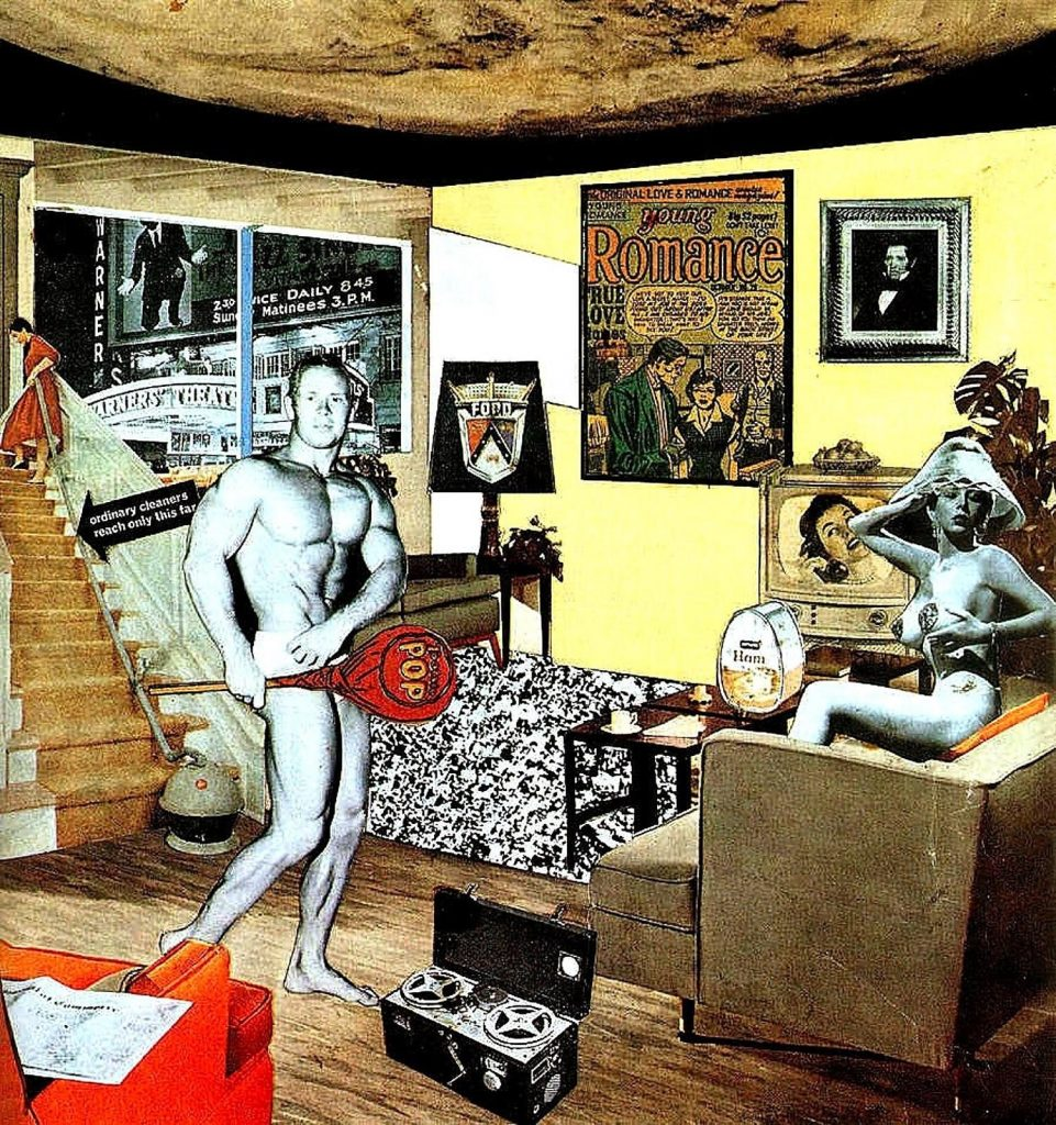 Richard Hamilton. Just what is it that makes today's homes so different, so appealing?, 1956. Reprodução: Rob Scholte Museum pop art