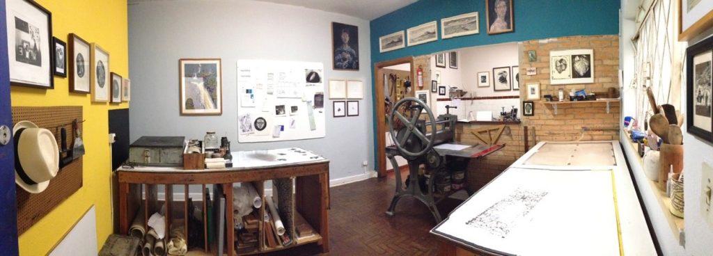 Sala de impressão do Atelier Piratininga. Foto: (Divulgação)