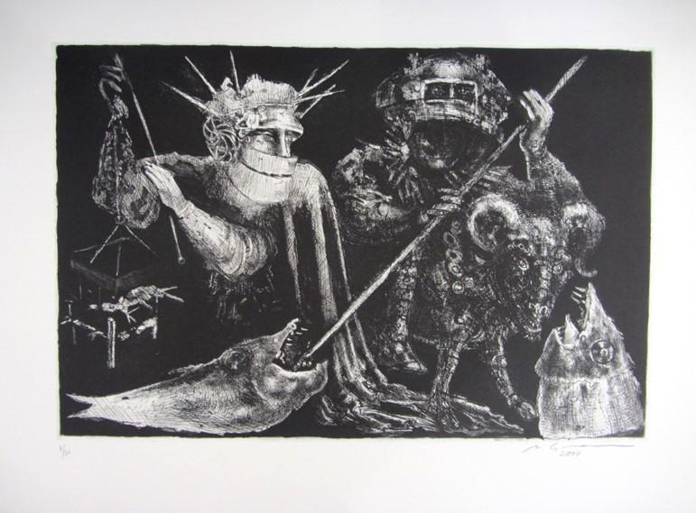 Marcello Grassmann. Sem título, Metal, 8/20, 2004. Galeria Gravura Brasileira.