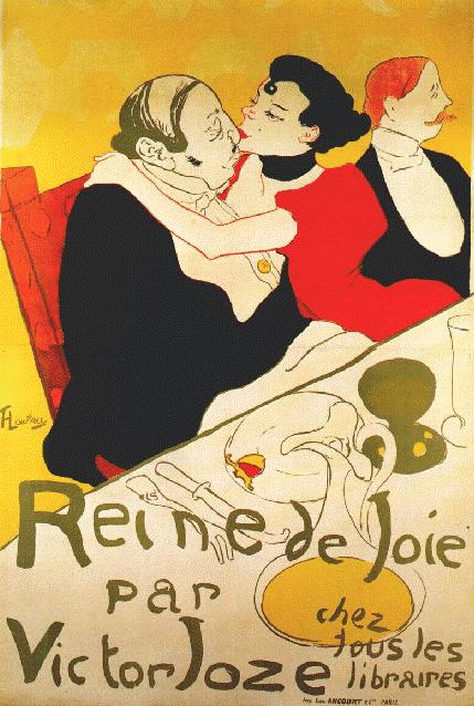 Toulouse-Lautrec, Reine de Joie, 1892, Cartaz, Litografia, 136 x 93 cm.
