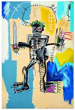 """""""Warrior"""" (1982), de Jean-Michel Basquiat – imagem de Christie's, 2021"""